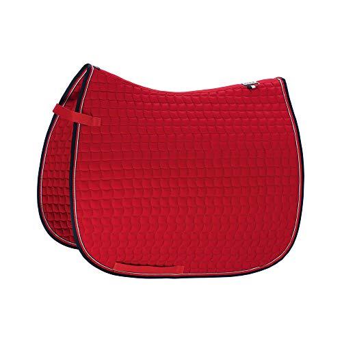 Eskadron Basic Cotton Schabracke in Chilli red, Größe:Pony Dressur (PD), Farbe:Chilli red