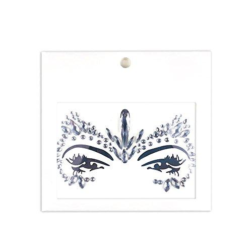 fkleben glitzersteine gesicht glGesichts-Tattoo Face Art Spinne Halloween Karneval Face Jewels Sticker- Meerjungfrau Gesicht Strass Selbstklebende Temporäre Haut Kunst Aufkleber ()