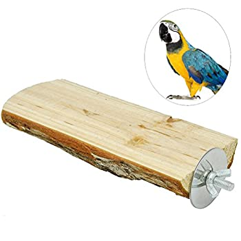 UEETEK Parrot Grapevine Stand Rack Board Plate-forme Jouet Parrot Branch Perches pour Pet Bird Cage 15cm