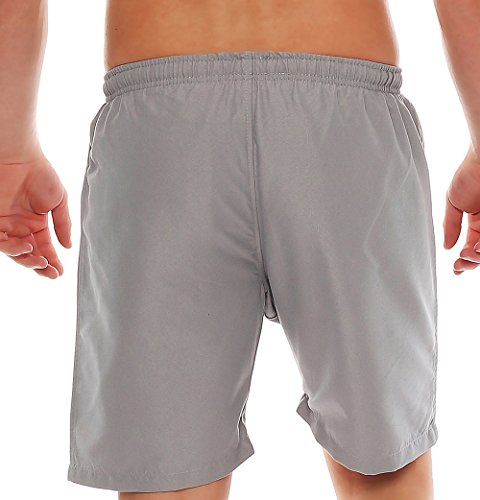 Gennadi Hoppe Genou longueur hommes Shorts de natation maillot de bain Gris