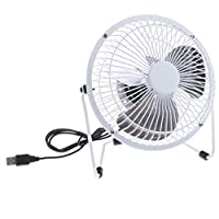 Backbayia Extractor Fan Super Silent Cooling USB Interface Exhaust System white white