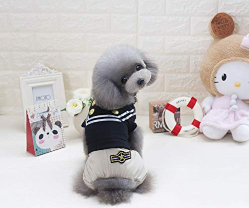 Party Haustier Kostüm Frühling und Sommer neue Hundebekleidung Teddy Hund? Polizei Vierbeinhosen (Farbe: Schwarz, Größe: XXL) Pet Uniform (Farbe : Black, Größe : XXL) (Polizei Hunde Kostüm Xxl)