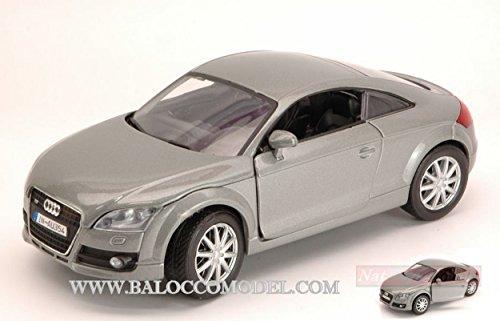 NEW MOTORMAX MTM73340SL Audi TT Coupe 2a Serie 2006 Silver 1:24 MODELLINO Die