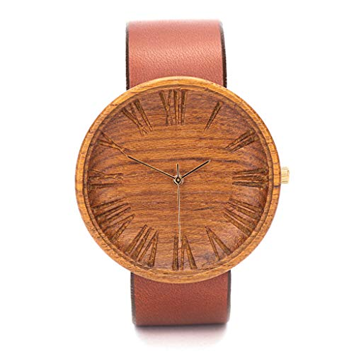 Holzuhr Herren Bond   Holzkern Uhren Männer   Graviert Nachhaltige Produkte   Holzarmband   42mm Quarzuhr Holz Armbanduhren   Herrenuhren -