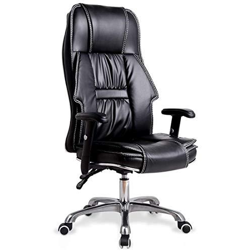 Executive-schwarz-roten Rahmen (GL-High Back Kunstleder Schreibtischstuhl Executive Computer Bürodrehstuhl mit verstellbaren Handläufen und Kissen Reclining)