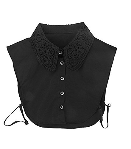 Westeng 1pc Vintage Elegant Women's Fake Half Shirt Detachable Blouse Collar with Hollow Out Design Test