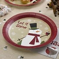 Neviti Let it Snow-Piatti di carta, motivo: pupazzo di