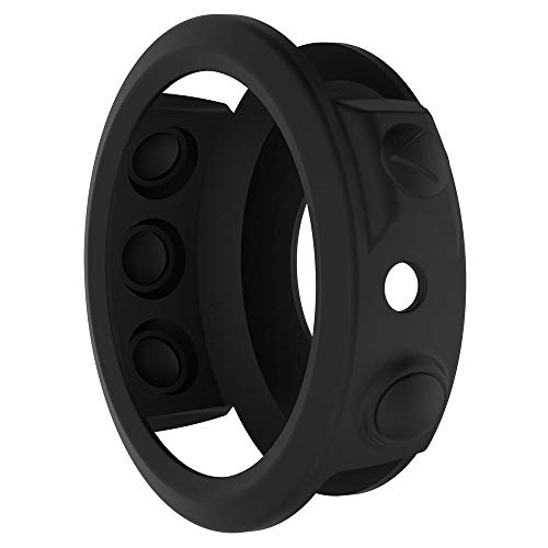 Slim Bunter Silizium Kasten Abdeckung Case Cover Schützen Shell für Garmin Fenix 5S Plus Watch Uhr, Schutz Hülse. (Schwarz)