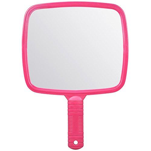 TRIXES Großer Rosa Hand Friseur Spiegel