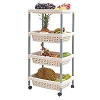 Liling Kitchen Shelf Multilayer Household Vegetable Basket Plastic Fruit Shelf Rack Rack Mobile Vegetable Shelf