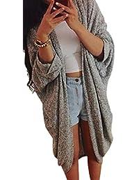 Tongshi Mujeres Señora Casual suéter manga Cardigan de punto chaqueta de la capa