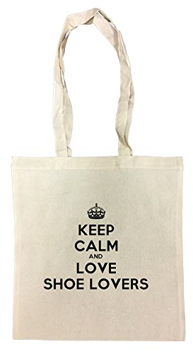 Keep Calm And Love Shoe Lovers Cotton Borsa Della Spesa Riutilizzabile Cotton Shopping Bag Reusable