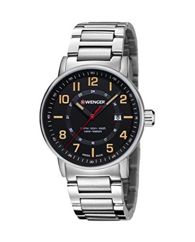 Wenger Unisex Orologio da polso cronografo al quarzo acciaio inossidabile 01.0341.114