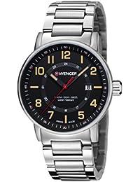 WENGER Unisex-Armbanduhr Chronograph Quarz Edelstahl 01.0341.114