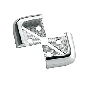 TILE RITE SDC155 2 12mm Silver Chrome Effect Metal Tile Trim Corners, Set of 2 Pieces