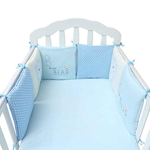 Bettwäsche-auto Baby-krippe (Arichtop 6Pcs / set Baby-Bett Auto Krippe-Karikatur Auto Newborn Bed Schutz Cradle Auto Kleinkind Kinderbett Bettwäsche-Set)