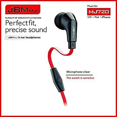 YXHM EU Klicken Sie, um die erweiterte Ansicht zu öffnen. JBMMJ 720 Super Bass Stereo-In-Ear-Kopfhörer Rauschunterdrückende Kopfhörer-Ohrhörer mit Mikrofon Für MP3 MP4, iPhones, iPad, IPod Nano, Smart
