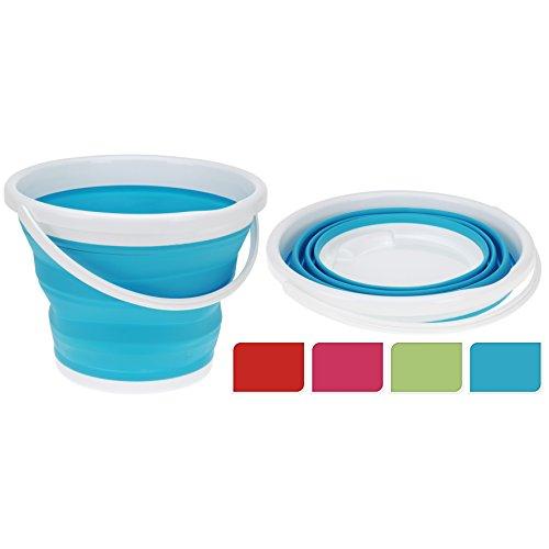 10 Liter Eimer faltbar Wassereimer Putzeimer faltbar zum ausstülpen