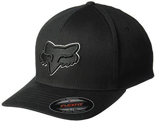 Fox Racing Men's Epicycle Flexfit Hat Black White LXL - Mens Black Fox