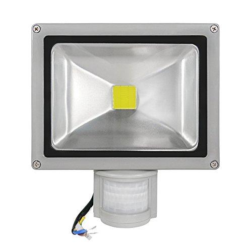 COB LED Außenfluter mit 180° Bewegungsmelder IP65, 50 Watt 5.500-6.000 Kelvin (Kaltweiss) 4600 Lumen (+/- 10{59db9918b6f64b89dca5a4676d6ea227f8aec43adab58dae7b1066fe9e3683c3})