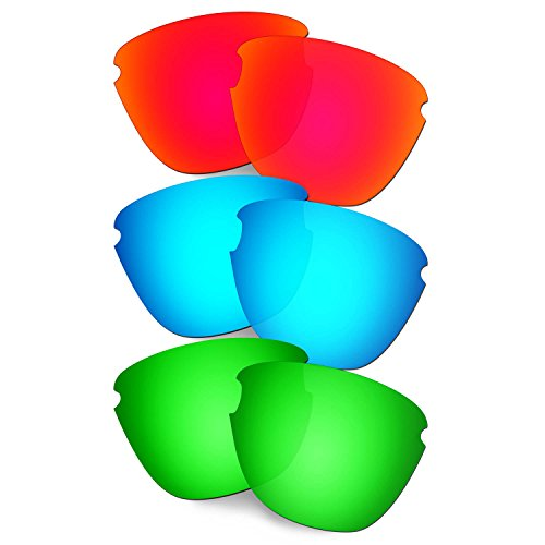 HKUCO Verstärken Ersatz-Brillengläser für Oakley Frogskins Lite Rot/Blau/Grün Sonnenbrille