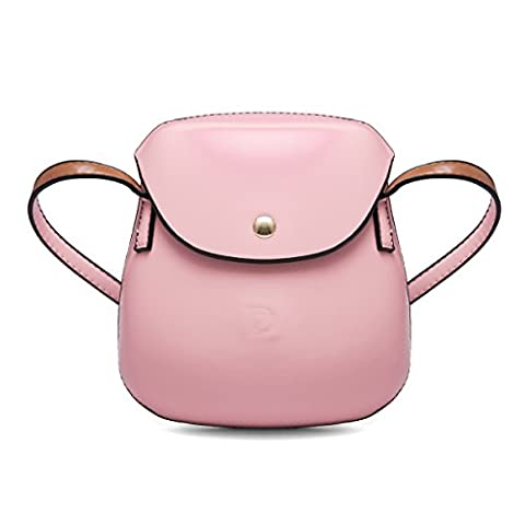 Women's PU Leather Handbag, Gracosy Classic Crossbody Bag Magnetic Buckle Retro Messenger Bag Leisure Shoulder Bag Fashion Shopping Tote Single Shoulder Strap Pink