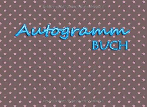 Autogramm Buch: Erinnerungsbuch, Unterschriften sammeln | Andenken Album Geschenk, Blanko unliniertes Erinnerungs-Sammelbuch zum Einkleben oder ... Schauspieler, Sänger und viele mehr ...