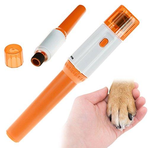 Juego de limas de pedicura con pilas para perros, gatos, sin dolor, para cuidado de la salud