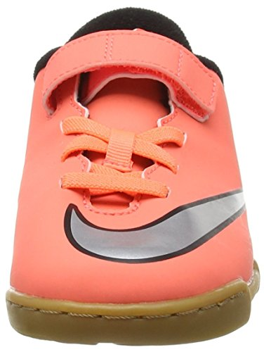 Nike Mercurial Vortex Ii V Ic, Chaussures de Football Entrainement Mixte Enfant Orange (Bright Mango/Metallic Silver/Hyper Turquoise)