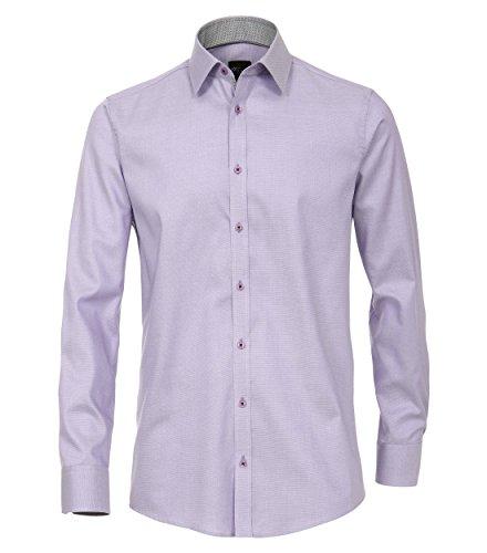 Michaelax-Fashion-Trade Camicia Classiche - Basic - Classico - Maniche Lunghe - Uomo Lila (900)