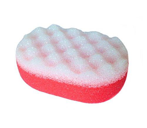 * Badeschwamm Schwamm Massageschwamm in oval aus mehreren farben wählbar (rot)