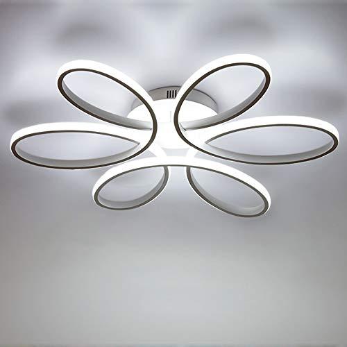 led 85w plafoniera creativo forma di fiore lampada da soffitto acrilico paralume in alluminio moderno elegante bianco opaco soggiorno camera da letto lampada a soffitto l59cm*h11cm, luce bianca 6000k
