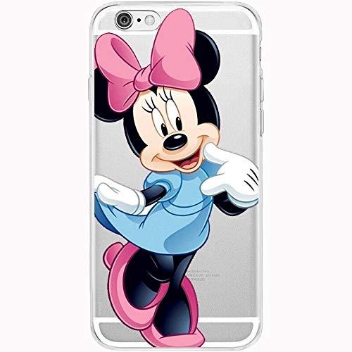 Onix Store Transparent Disney Case für iPhone, Zeichentrickfiguren Weiche TPU Protective Back Cover, Minnie Mouse Character (iPhone 7/8) -