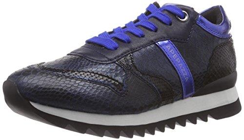 ApepazzaDILETTA SERPENTE STAMPATO - Sneaker donna , Blu (Blau (BLUE/NERO)), 36