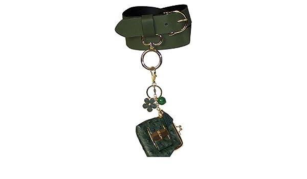 d3806ab53d1db Fronhofer Damen Gürtel mit Taschen Anhänger