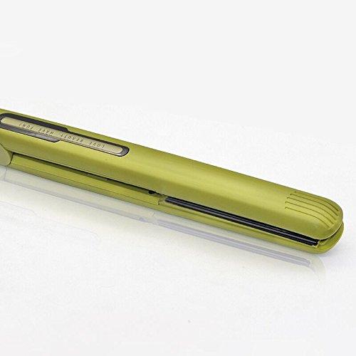 YASUO Curl Stick Sperrholz Straight Hair Dual-Purpose Innentaste Air Bangs Small Keine Verletzungen Home Portable Direct Clamp, Grasgrün (Air Clamp)