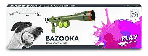 M-PETS Ballschleuder Wurfspielzeug Ballwerfer Bazooka Ball Launcher inkl. 2 Bällen grün