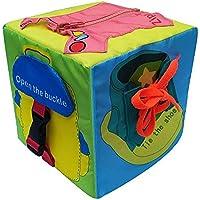 Per Libros Blandos Juguetes Montessori Cubos de Aprendizaje Juguete de Enseñar Vestir Tableros de Montessori Juguete Educativo