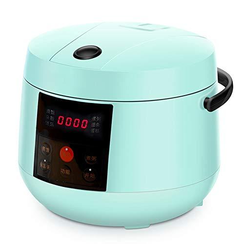 Digitaler Reiskocher 6 Automatik Programme Reiskocher Mit Warmhaltfunktion, 24-Stunden-Preset, 2L, 350W,Blue