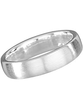 Vinani Ring klassisch schlicht mattiert schmal Unisex Partnerring Sterling Silber 925 RCL
