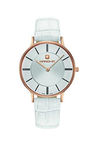 HANOWA Damen Analog Quarz Uhr mit Leder Armband 16-6070.09.001