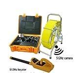 MabelStar mabelstar Wasserdicht CCTV Endoskop-Kamera Rohr-Inspektion Kamera mit 60Kabel Meter gegen und 512Hz Sender, 512Hz Locator
