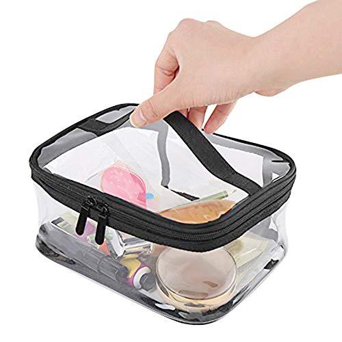 Oyfel Trousse de Toilette Transparente Plastique Sac Cosmétiques Cadeaux Sacs de Maquillage Etuis Sac de Voyage Avion dans Bagages à Main 20 * 10.5 * 15cm