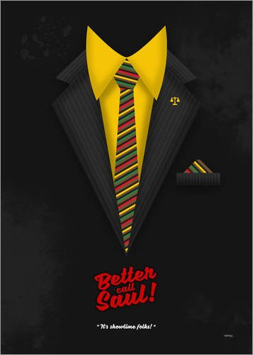"Poster 80 x 110 cm: Better Call Saul - Suit No. #1 - James Morgan ""Jimmy"" McGill's Style. Fanart! di HDMI2K - stampa artistica professionale, nuovo poster artistico"
