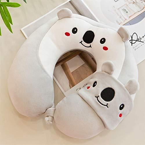 ZREED U-Typ Comfort Neck Support Cushion (Reisen, Fernsehen, Lesen) Für Home-Office-Reisen (Color : Koala, Size : 30x30cm)
