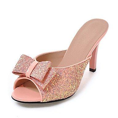 LQXZM La femme Chaussons & amp; tong sandales synthétiques Slingback Été Automne Casual robe sequin Stiletto HeelGold Noir Argent Blanc rougissant Blushing Pink
