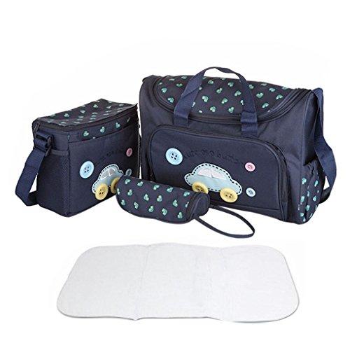 4er-Set Babytasch, Baby Wickeltasche, Mutter Windeltasche, 4tlg Pflegetasche, Mama Handtasche Schultertasche Flaschenhalter