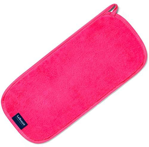 LaBeauté Make-Up Entferner-Tuch, Gesichtsreinigung und Abschmink-Tuch, waschbar und wiederverwendbar (40x18 cm, Pink)