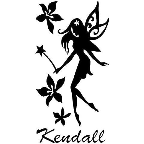 Fata Fiore Kendall nome lettere cameretta bambini adesivo da parete