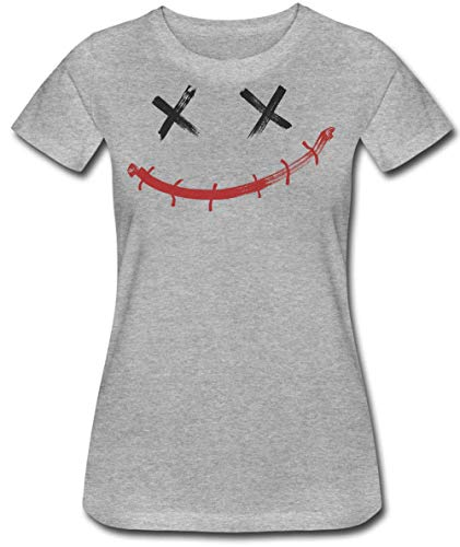 (Creepy Smiley with X-Shaped Eyes Damen T-Shirt XX-Large)